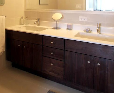 Home interior gallery bathroom vanity - Large bathroom sink with two faucets ...
