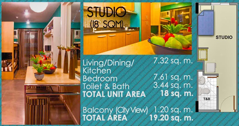 Studio Type Condo Plan at Camella Northpoint by Vista Residence - Davao Region Philippines