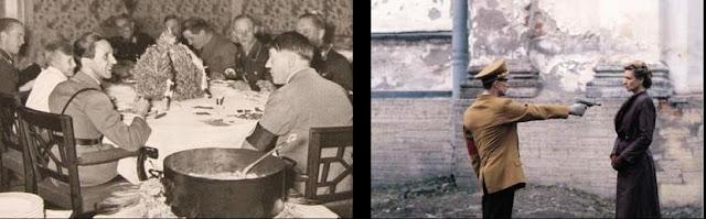 Førerbunkeren (tysk Führerbunker) var under 2. verdenskrig et stort tilflugtsanlæg i tilknytning til Rigskancelliet i Berlin. Den var bygget specielt for at beskytte Adolf Hitler og hans nærmeste medarbejdere, og det var i dette anlæg, Hitler tilbragte sine sidste dage og begik selvmord 30. april 1945.  Anlægget var stort, med soverum, opholds- og spiserum og kontorer for dele af partieliten og andre nøglepersoner. Det øvre af de to niveauer lå omkring 8,2 meter under jorden, og under dette var et niveau, hvor Hitlers personlige område befandt sig. Dette bestod af 17 små rum, og ud over Hitler opholdt blandt andre Eva Braun, Joseph Goebbels med familie og Ludwig Stumpfegger sig dér.  Der var adgang til bunkeren både fra den nye kancellibygning og fra kancellihaven.  Under 2.verdenskrig opholdt Hitler sig for det meste i Berghof eller Ulveskansen.  Da man fra officiel tysk side ikke ønsker, at førerbunkeren skal blive et monument for yderligtgående grupper, er bunkeren ikke indrettet som turistattraktion. I stedet henligger den under en parkeringsplads midt i Berlin.  Efter sigende skulle bunkeren være oversvømmet af vand, og nogle steder er loftet faldet sammen. Til stede i bunkeren mellem 12. april og 1. maj 1945 Navn  Rang/titel  Opgave  Endeligt Albrecht Georg Haushofer  SS-Brigadeführer    Arthur Axmann  Reichsjugendführer  Leder for Hitlerjugend  Arresteret i britisk zone i slutningen af 1945, dømt til tre års fængsel Hans Baur  SS-Gruppenführer  Hitlers personlige pilot   Georg Beetz  SS-Standartenführer  Hitlers personlige andenpilot   Nicholaus von Below   Hitlers kontakt i kancelliet, assistent for general Burgdorf   Gerhard Boldt  Kaptajn  Assistent for major Freytag-Loringhoven   Martin Bormann   Hitlers assistent  Antaget dræbt udenfor bunkeren Eva Braun   Hitlers elskerinde; de giftede sig 29. april  Begik selvmord i bunkeren 30. april Wilhelm Burgdorf  General  Wehrmacht-adjudant ved Førerhovedkvarteret  Begik selvmord i bunkeren Gerda Christian   Hitl