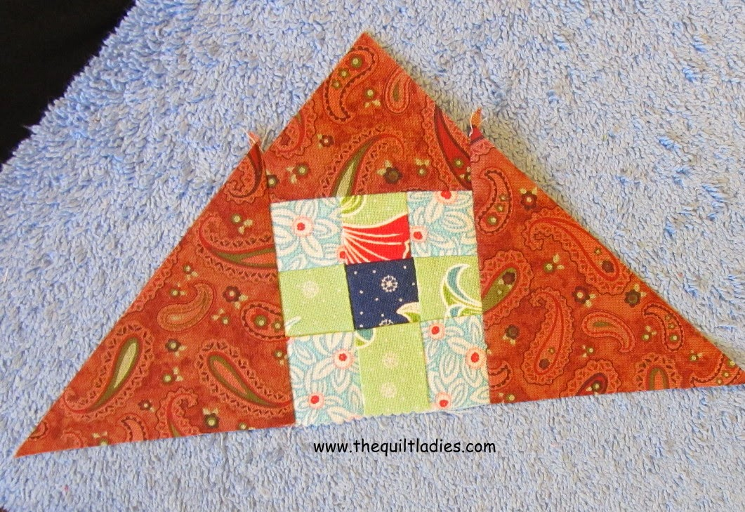 Nine Patch Quilted Table Topper Tutorial