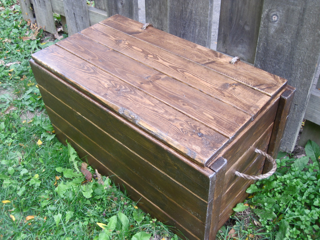 Wood Storage Chest - Make your own! | The Project Lady