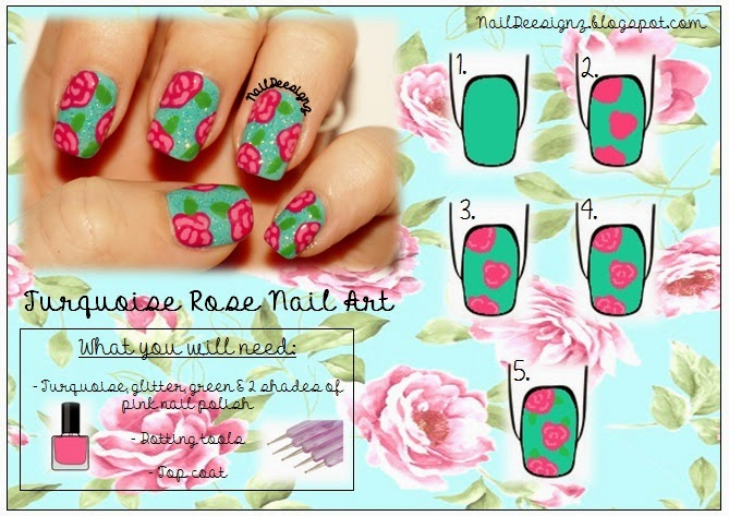 http://www.naildeesignz.blogspot.co.uk/2014/03/turquoise-rose-nail-art.html