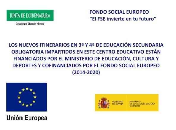 El Fondo Social Europeo invierte en tu futuro.