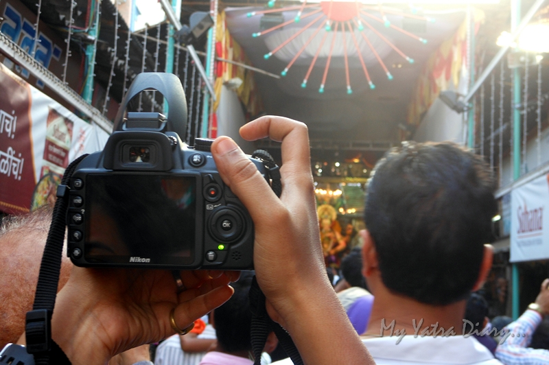 Cameras focused at Lalbaugcha raja, Ganesh Pandal Hopping, Mumbai