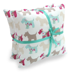 Hugo & Hennie Designer Scottie Dog cushions