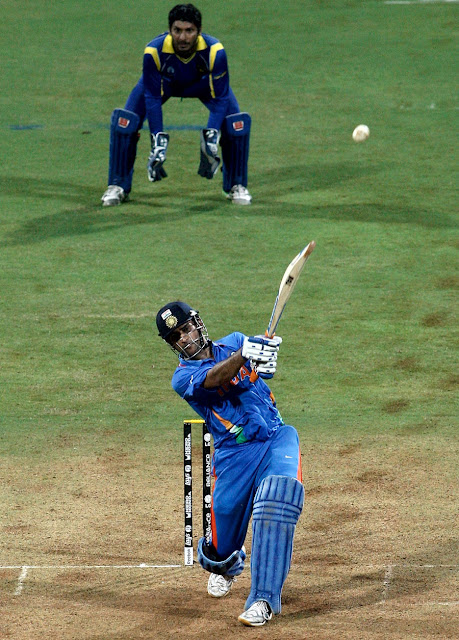 Mahendra Singh Dhoni Playing Cricket