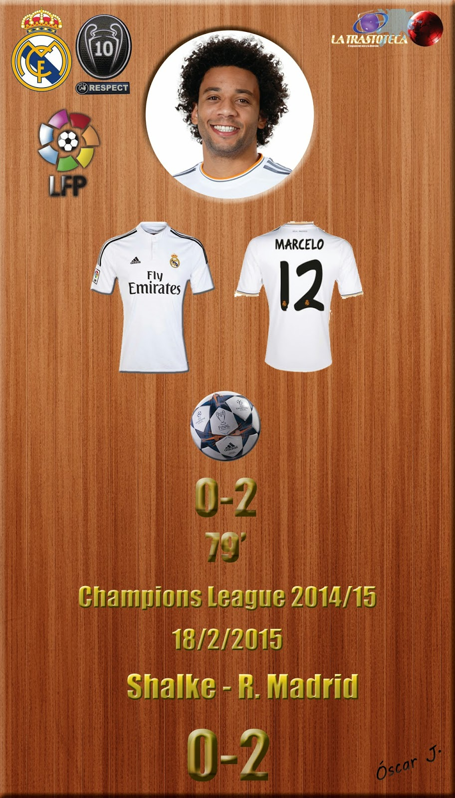 Marcelo (0-1) - Shalke 04 0-2 Real Madrid - Champions League 2014/15 - Octavos - (18/2/2014)