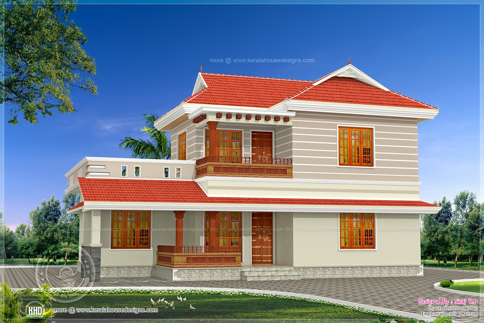 3 bedroom house exterior design in 200 square yards kerala home design and floor plans - Gorgeous housessquare meters ...