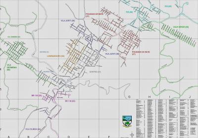 Mapa de Nova Petrópolis – RS