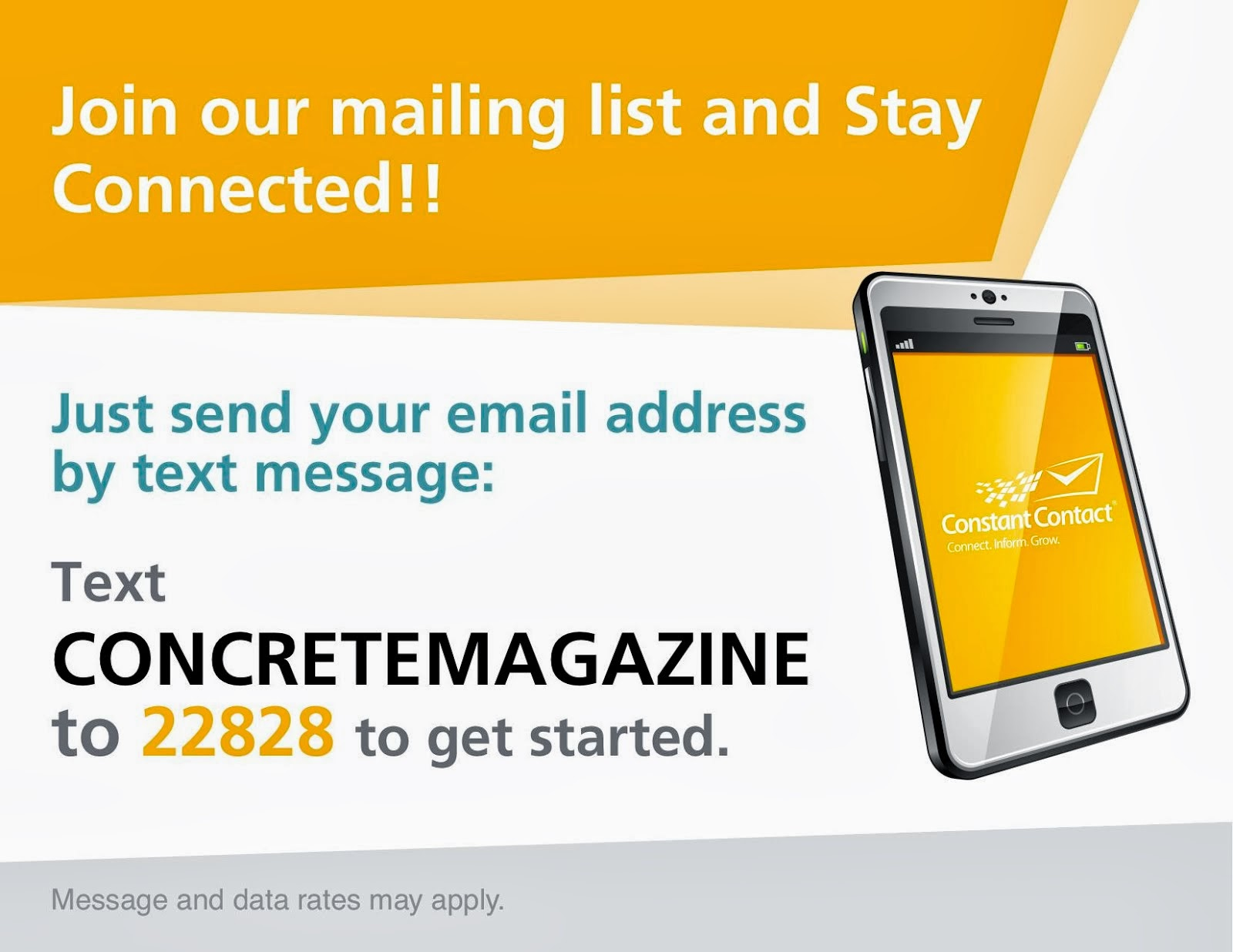 Join the Concrete Mailing list