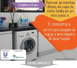 Promoção Concorra a 1 Máquina de Lavar Roupas