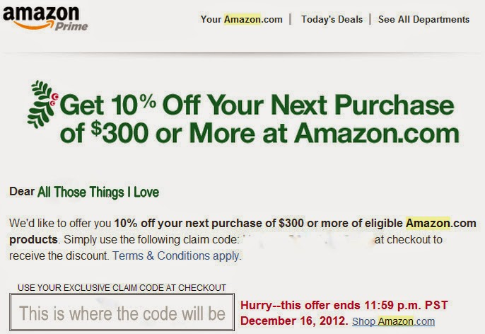 Amazon coupon codes