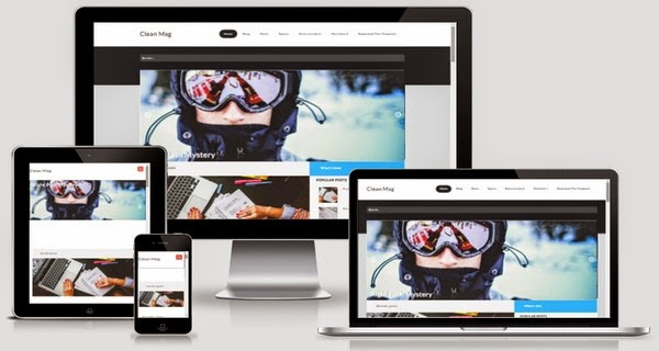 Clean Mag Responsive Blogger Template Free Download
