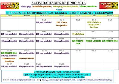 Actividades JUNIO 2016