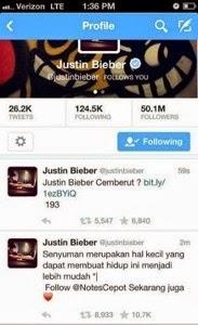 twitter-justin-bieber-dihack-orang-indonesia
