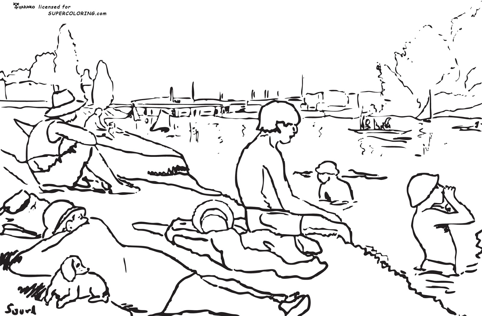 George Seurat Coloring Pages #1