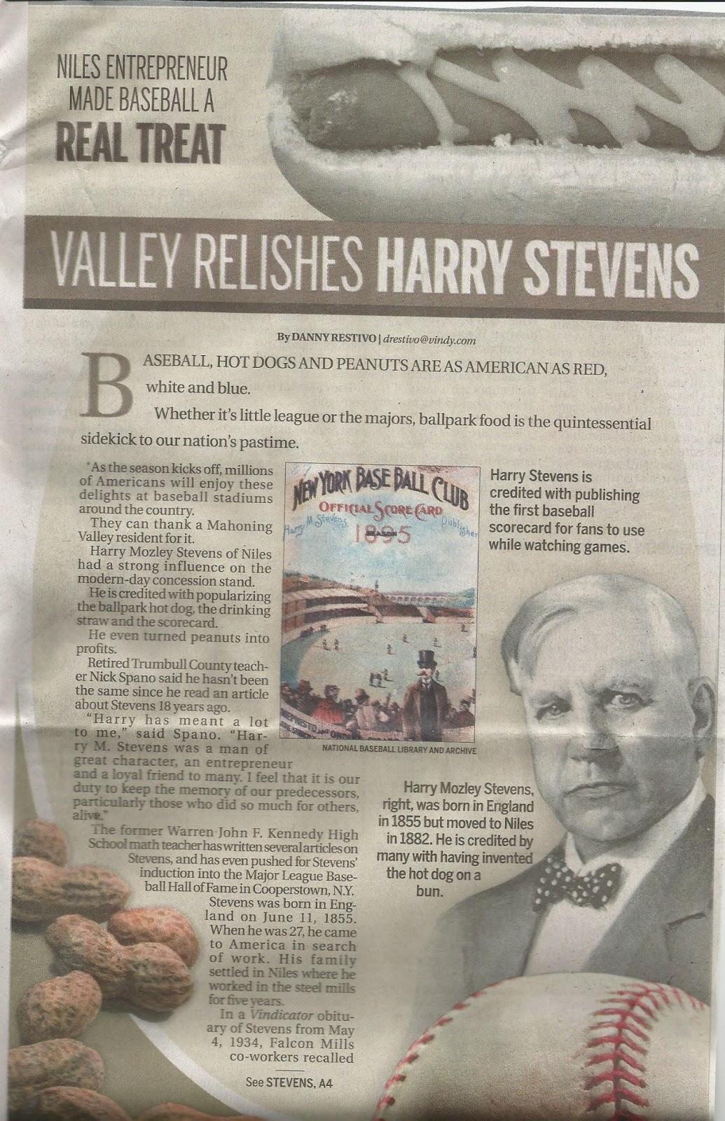 Harry Stevens Hot Dog Day