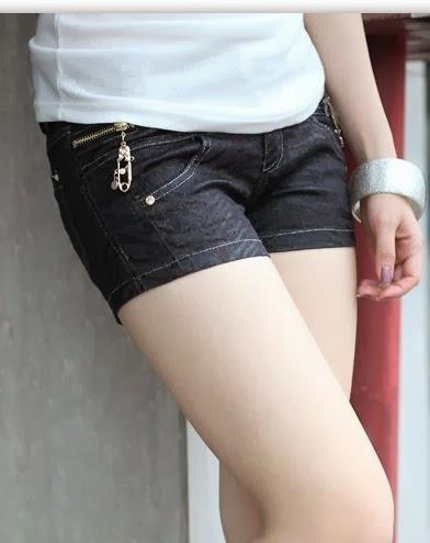 Model Celana Pendek Kain Jeans