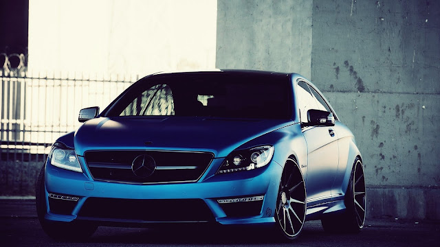 Blue Mercedes Benz Cl63 Amg HD Wallpaper