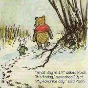 One day Pooh and Piglet were walking throughout the Hundred Acre Woods.