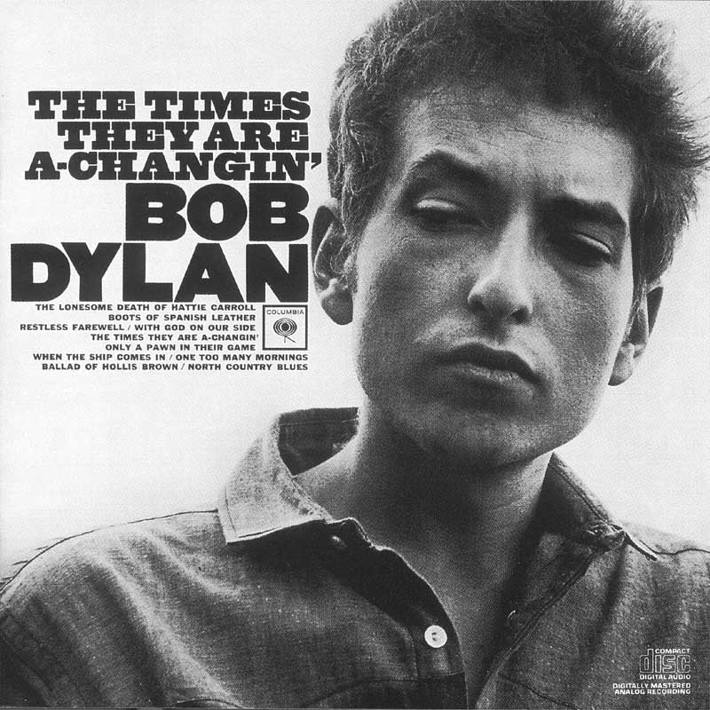 Bob Dylan - The Times They are a-Changin' album cover