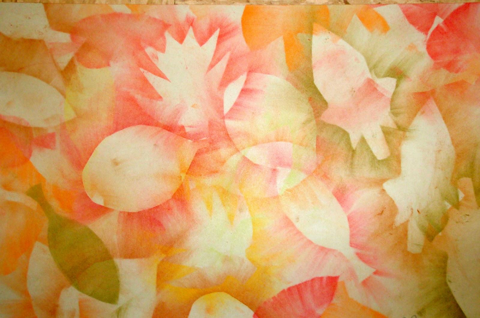 organized chaos 3rd grade chalk leaf stencils