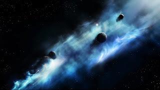 Espacio azul nubes