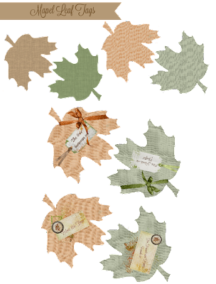 Mapel Leaf Tags