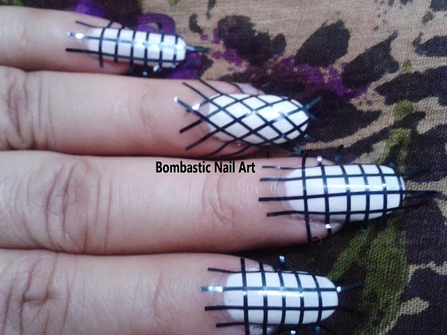 Day 13: Checkered Nail Art with Striping Tape – Bombastic Nail Art