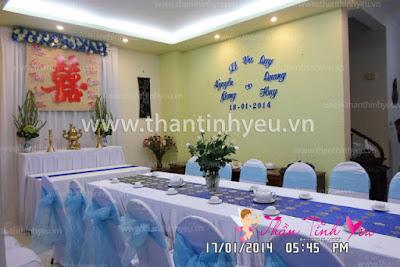 Dịch vụ trang trí bàn thờ gia tiên đám hỏi, đám cưới
