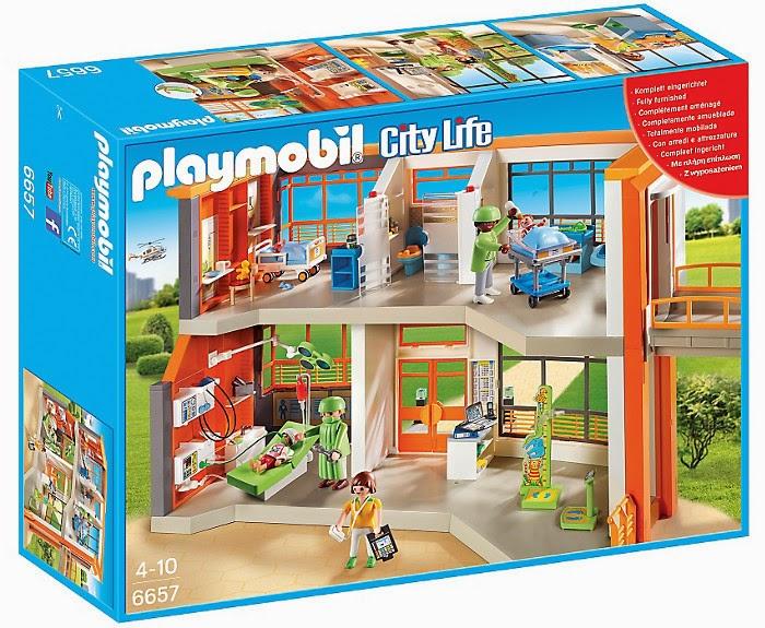 Libros y juguetes 1demagiaxfa juguetes playmobil city for Hospital de playmobil