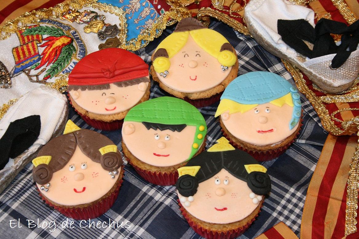 cupcakes fallas, falleras, chechus cupcakes, cupcakes valencia