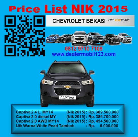 Harga Chevrolet Captiva Bekasi NIK 2015