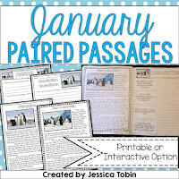 https://www.teacherspayteachers.com/Product/Paired-Passages-January-1620633