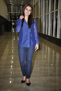 Actress Rashi Khanna Latest Pictures in Jeans at Lakshmi Raave Maa Intiki Telugu Movie Audio Launch 12
