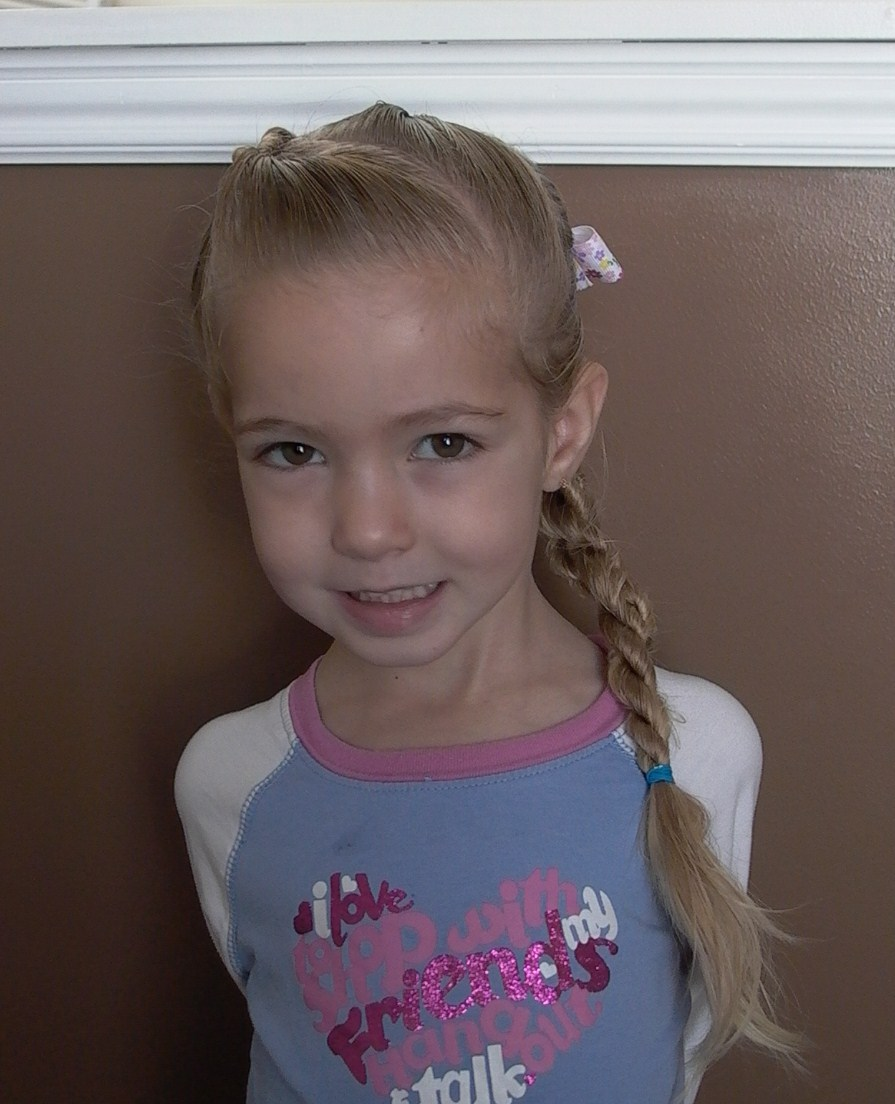 Shaunell's Hair: Little Girl's Hairstyles: Progressive Twist Braid: 7