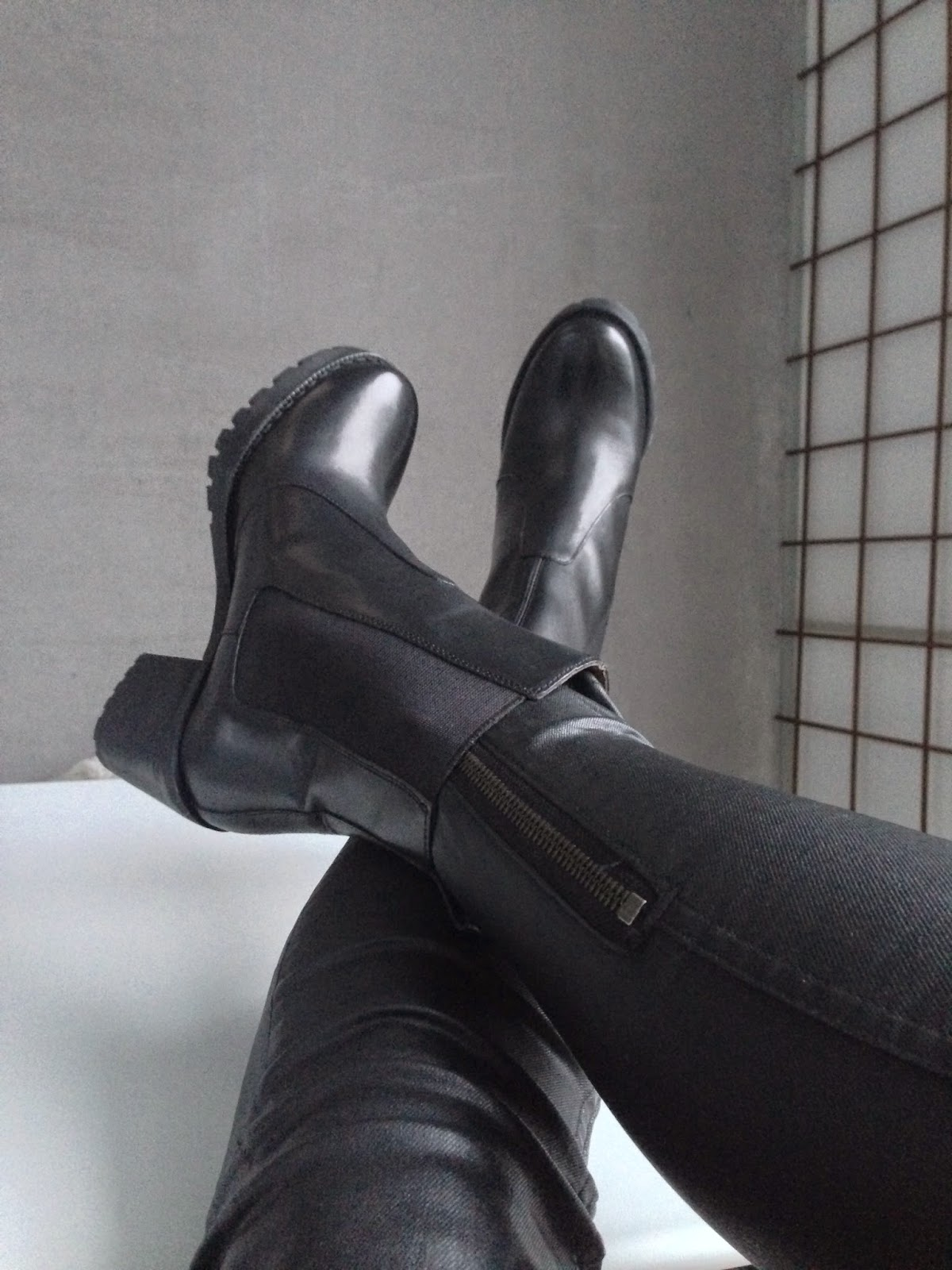 H&M Premium Quality,  Leather boots