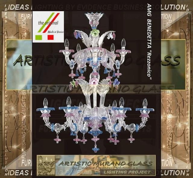 Artistic Murano Glass Chandelier Lampadari Rezzonico