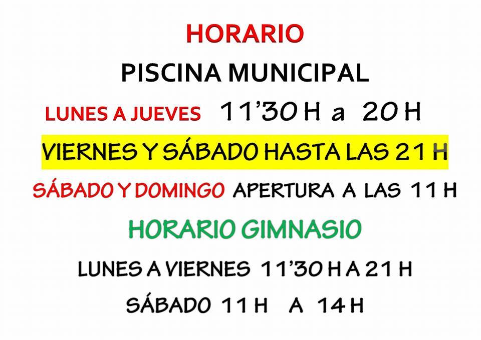 Polic a local enguera piscina municipal precios y horarios for Horario piscina alaquas