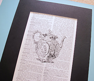 image vintage dictionary page print teapot wall art