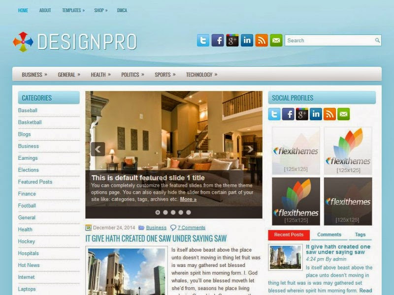 DesignPro - Free Wordpress Theme