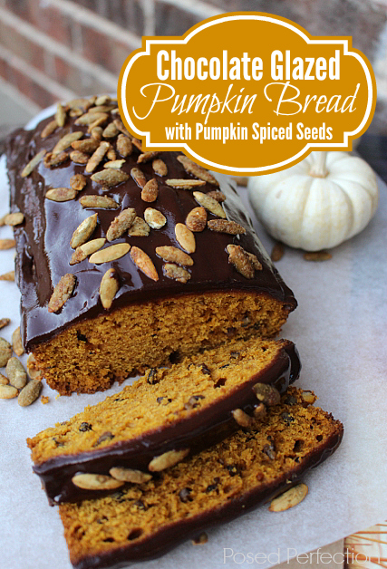 Chocolate Glazed Pumpkin Bread