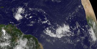 Pot. Tropischer Sturm OSCAR (92L) zieht in die Karibik, Oscar, aktuell, Satellitenbild Satellitenbilder, Atlantische Hurrikansaison, Hurrikansaison 2012, September, 2012, Dominikanische Republik, Kuba, Yucatán, Mexiko,