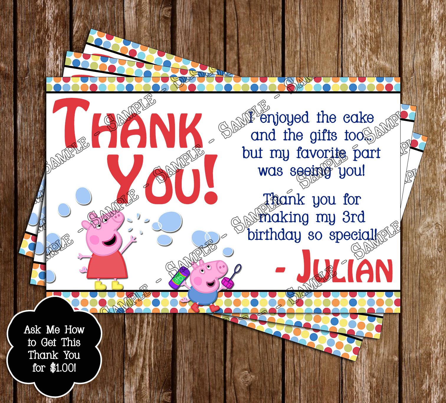 Novel concept designs peppa pig birthday invitations and thank you card peppa pig birthday invitations and thank you card filmwisefo