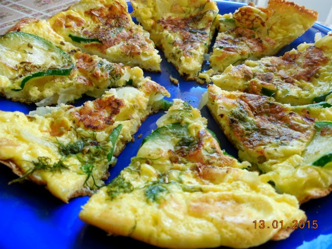 pofta buna la omleta cu zucchini