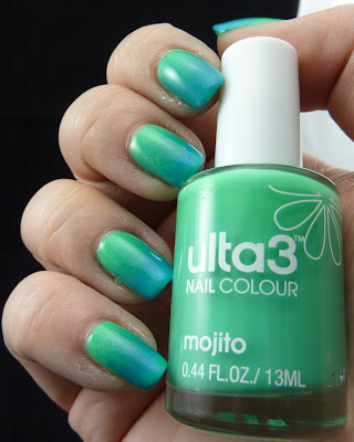 Green to Blue Gradient Manicure