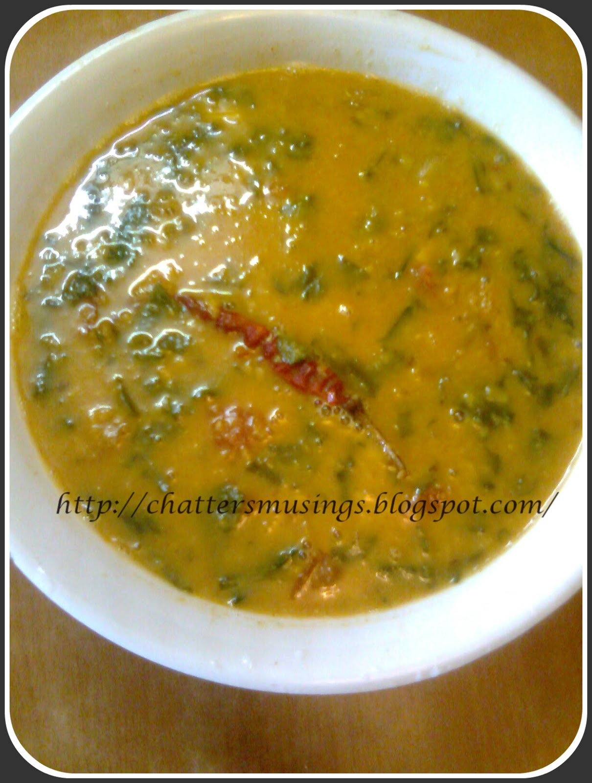 Dal palak ( lentils with spinach) ~ Homely Food
