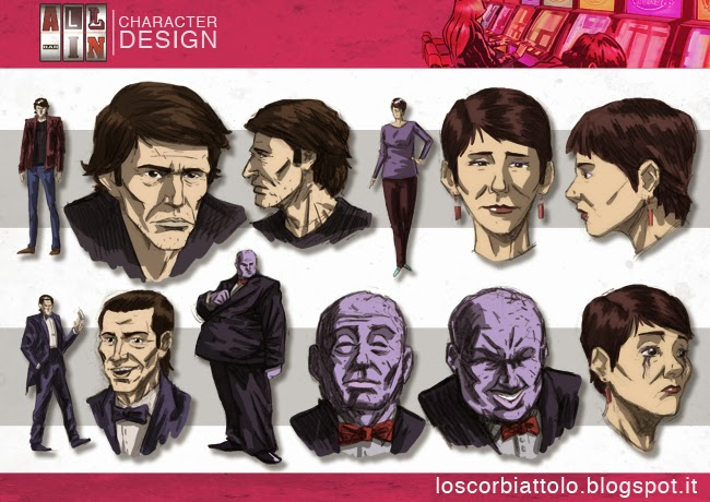 all in pazzi per il fumetto vincitore vilal iris 2014 character design protagonisti studio di personaggi alfred hitchcock willem dafoe