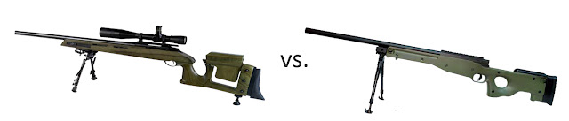 sniper+compare AirSplat Safety Week   Spotting the Difference