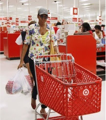 Michelle Obama Snapped Shopping at Target